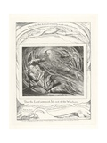 Then the Lord Answered Job Out of the Whirlwind, 1825 Giclée-Druck von William Blake