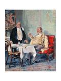 In a Restaurant, 1914 Giclee Print by Vladimir Egorovic Makovsky