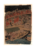 Sumidagawa Funaasobi Giclee Print by Utagawa Toyokuni