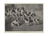 Mr J Moss's Pack of Basset-Hounds at Bishops Waltham, Near Winchester Giclee Print by Valentine Thomas Garland