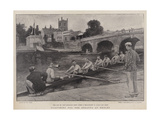 Practising for the Regatta at Henley Giclee Print by Walter Stanley Paget