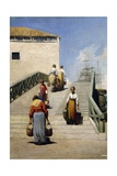 Women on a Bridge in Venice, 1869 Giclee Print by Vincenzo Cabianca
