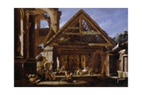 Adoration of the Shepherds, 1655-1659 Giclee Print by Viviano Codazzi