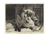 Christmas in the Nursery, Our Fairy Story Giclee Print by Walter Jenks Morgan