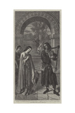 Courtesy, Sir Tristram Harping to La Belle Isoude Giclee Print by William Dyce