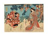 Yamauba to Kaidomaru Giclee Print by Utagawa Toyokuni