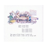 Three Proud Mice, Three Proud Mice, Soon Settled Down Colour Giclee Print by Walton Corbould