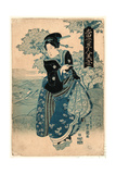 Kiseru O Motsu Onna Giclee Print by Utagawa Toyokuni