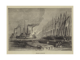 Spanish Gunboats Giclee Print by Walter William May