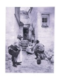 Cornish Fisher Folk Giclee Print by Walter Langley