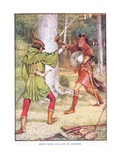Robin Hood and Guy of Gisborne, C.1920 Giclee Print by Walter Crane