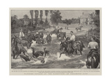 Watering Cavalry at the Manoeuvres, an Unexpected Bath Giclee Print by Walter Stanley Paget
