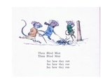 Three Blind Mice, Three Blind Mice, See How They Run Giclee Print by Walton Corbould