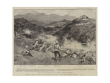 With the Kurram Movable Column of the Tirah Field Force Giclee Print by Walter Stanley Paget