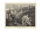 The Linen Gatherers Giclee Print by Valentine Cameron Prinsep