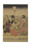 June (Summer Party on the Kamo River), Early 1800s Giclee Print by Utagawa Toyohiro