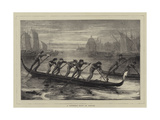 A Gondola Race in Venice Giclee Print by Walter Jenks Morgan