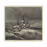 HMS Royal Alfred in an Atlantic Gale Giclee Print by Walter William May