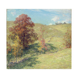 The Red Oak (No.2), 1911 Giclee Print by Willard Leroy Metcalf