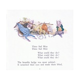 Three Sad Mice, Three Sad Mice, What Could They Say Giclee Print by Walton Corbould