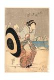 Moto-Yanagibashi Yuki No Kokei Giclee Print by Utagawa Toyokuni