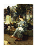 Afternoon in the Luxembourg Gardens Giclee Print by Victor Marec