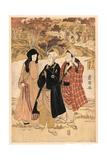 San Yakusha Kaian-Ji No Momijigari Giclee Print by Utagawa Toyokuni