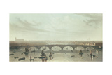 View of the Bridge Now Building over the Thames at Vauxhall, 1810 Giclee Print by W Daniel