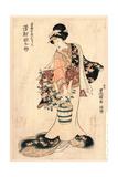 Sawamura Tanosuke No Yusuke Nyobo Osen Giclee Print by Utagawa Toyokuni