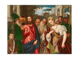 Christ and the Woman Taken in Adultery, C.1540 Giclee Print by  Veronese