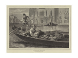 A Venetian Fruit-Boat Giclee Print by Walter Goodall
