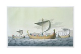 Fleet of William the Conqueror Giclee Print by Vittorio Raineri