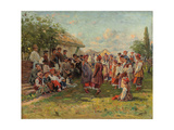 Festival in a Ukrainian Village, C. 1882-1917 Giclee Print by Vladimir Egorovic Makovsky