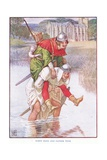 Robin Hood and Father Tuck, C.1920 Giclee Print by Walter Crane