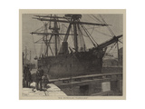 Hm Ironclad Vanguard Giclee Print by Walter William May
