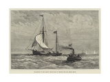 Departure of the Arctic Yacht Kara to Search for Mr Leigh Smith Giclee Print by Walter William May