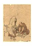 Ushjiwakamaru No Takageta Naoshi Giclee Print by Utagawa Toyohiro