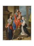 The Madonna and Child with Saints Giclee Print by Ventura Di Arcangelo Salimbeni