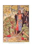 Robin and His Men Kneel to the King, C.1920 Giclee Print by Walter Crane