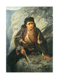 The Herzegovinian on Lookout, 1876 Giclee Print by Vasilij Dmitrievich Polenov
