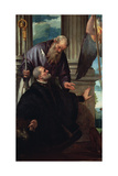Saint Anthony Abbot as Patron of a Kneeling Donor, C.1570 Giclee Print by  Veronese