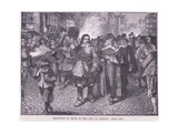 Reception of Monk in the City of London Ad 1659 Giclee Print by Walter Stanley Paget