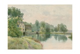 Houghton Mill on the River Ouse, 1914 Giclee Print by William Fraser Garden