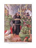 The Abbot of Saint Marie's Taken by Robin Hood, C.1920 Giclee Print by Walter Crane