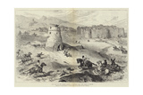 Past Days on the Persian Border, a Turkoman Raid, the Tower of Refuge Giclee Print by William 'Crimea' Simpson