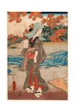 Momiji to Onna Giclee Print by Utagawa Toyokuni