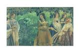 The Emerald Necklace, 1903-04 Giclee Print by Viktor Elpidiforovich Borisov-musatov