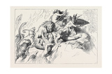 A Wild Beast Fight During the Deluge Giclee Print by Wilhelm Von Kaulbach