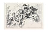 A Wild Beast Fight During the Deluge Giclee Print by Wilhelm Von Kaulbach