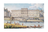 View of the Hotel Des Monnaies at the Confluence of the Two Branches of the Seine Giclee Print by Victor Jean Nicolle